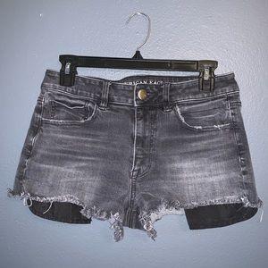 Black distressed jean shorts!